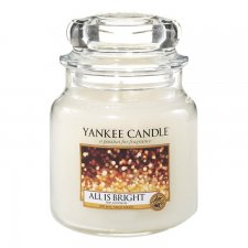 Yankee Candle All is Bright Medium Jar - Doftljus
