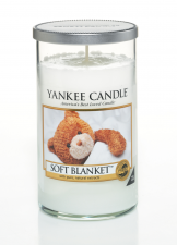 Yankee Candle Soft Blanket Glass Pillar M