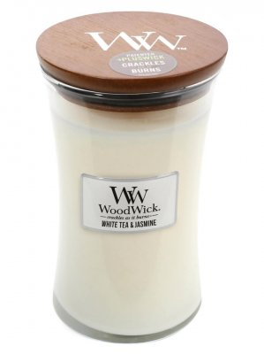 WoodWick - White Tea & Jasmine Large - Doftljus