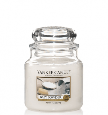 Yankee Candle Baby Powder Medium Jar - Doftljus