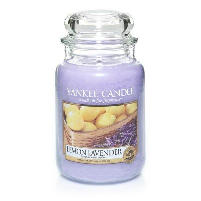 Yankee Candle Lemon/Lavender Large Jar - Doftljus