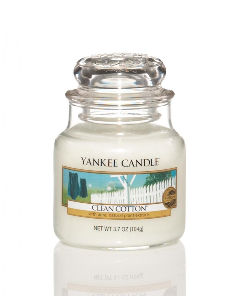 Yankee Candle Clean Cotton Small doftljus   Doftriket